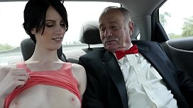 Old farts examining the tightest pussy they have ever seen