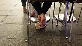 Candid White Girl Feet...