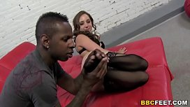 Remy LaCroix Gives Footjob To A BBC