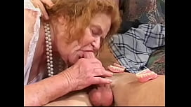 Dude fucks old lady then shoves dildo up her ass