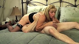 Mature Petite Blond Sucks &amp_ Fucks Her Young BoyToy