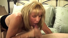 Mature Petite Blond Sucks...