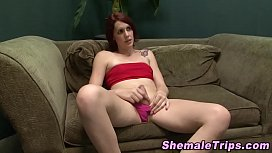 Tgirl rimmed and milked...