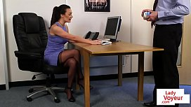 CFNM office beauty humiliating...