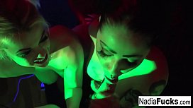 Hot double POV BJ with Nadia White and Ophelia Rain xxx image