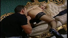 Blonde slut in black...