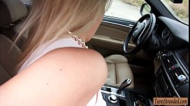 Sweetheart Nikky Dream hitchhikes...