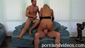 squirting blonde slut double penetration sex with 2 big cocks