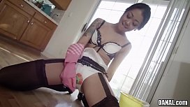 Filthy asian anal maid...