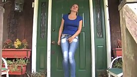 Bursting To Pee, Teenage Girl Can't Hold It Outside of Her Friend's House
