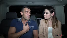 Night fuck with lost babe in driving car and horny stranger xxx video