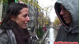 Real Amsterdam hookers in threesome