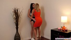 Blonde lesbian eating gfs hairy pussy