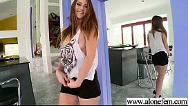 Alone Horny Girl Please Herself With Stuffs clip-11