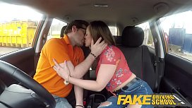 Fake Driving School Big tits Spanish learner loves sucking and hard fucking sex image