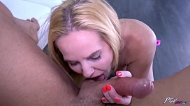 Naughty blonde love drilled hard with big cock