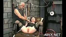 Rough lesbian servitude in non-professional scenes along hot babes