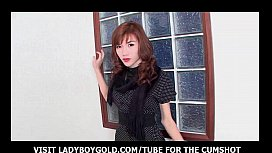 Shy Ladyboy Black Leather...