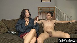 Cigar Sucking Fake Tit MILF Charlee Chase