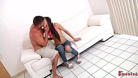 Hot Teen In Jeans Getting Fucked