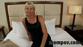 Blonde milf fucking young...