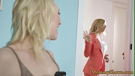 Glam milf with bigtits fingering stepdaughter