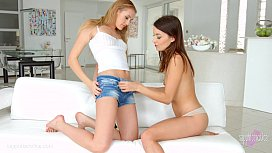 Roxy Dee and Linda Leclair in lesbian scene by SapphiX