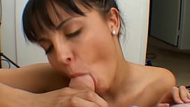 Beautiful sexy brunette oral...
