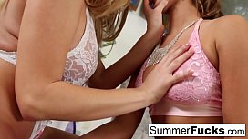 Summer Brielle squirts in...