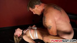 Alina West tied up and is punished by master