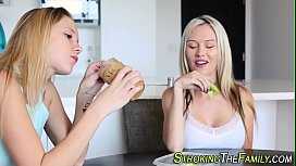 Stepteen jizz mouthed...