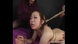 Spicy Bondage Threesome For Hot Dom Couple And Submissive Hairy Lover