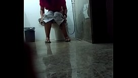 Drunk Hairy Pussy Girl Caught Peeing In Toilet During a Latin Party