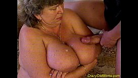 Crazy old mom fucked...