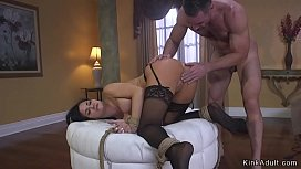 Huge fake tits Milf bdsm fucked in pussy