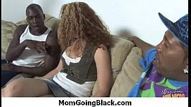 Huge Black Meat Going into Horny Mom 25