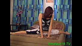 Boneless flexible teen gymnast...