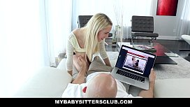 MyBabySittersClub - Milf (Layna Landry) Catches (Cadence) Sucking Dick