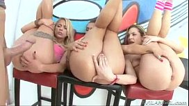 Anal foursome oil! Mischa...