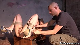 Beautiful submissive ballgagged and...