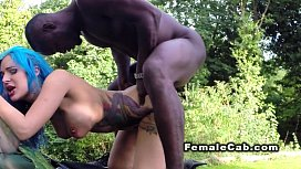 Female cab driver interracial...