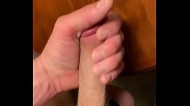 Bigcockcumshot at it again jerking big hard cock and shooting a thick creamy cumload on corner table