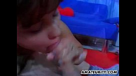 Amateur girlfriend threesome with...