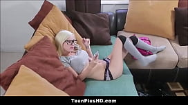 Tiny Blonde Teen Babysitter...