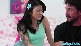 Lovely teen pounded by her stepdad