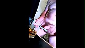 Masterbating and Blending Cum with Whisky.