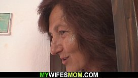 Old mommy sucks and rides son-in-law dick