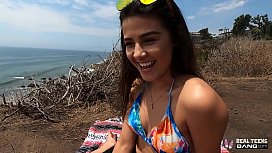 Real Teens - Hot Latina Teen Gets Fucked On The Cliffs Of Southern California