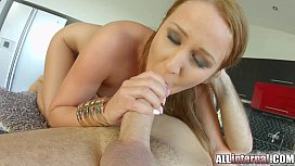 All Internal Readhead gets her first big creampie