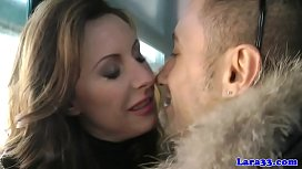 British cougar doggystyled after blowjob